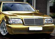 Прокат лимузина Mercedes-Benz S-class W140 белого цвета для свадьбы.